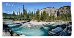 Beach Towel featuring the photograph Takakkaw Falls by Brad Allen Fine Art
