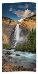 Beach Towel featuring the photograph Takakkaw Falls Of Yoho National Park by William Lee