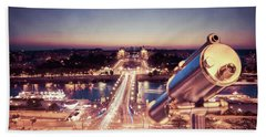 Beach Towel featuring the photograph Take A Look At Paris by Hannes Cmarits