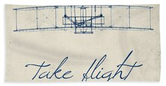 Take Flight Beach Towel by Brandi Fitzgerald