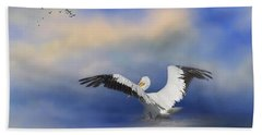 Beach Towel featuring the photograph Take Off By The Sea by Kim Hojnacki