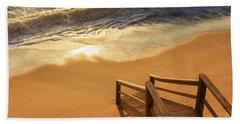 Take The Stairs To The Waves Beach Sheet by Joni Eskridge