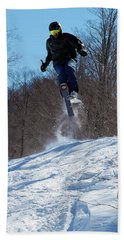 Beach Towel featuring the photograph Taking Air On Mccauley Mountain by David Patterson