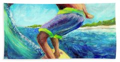 Taking Off Beach Towel by Patricia Piffath