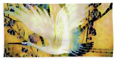 Taking Wing Above The Garden - Kimono Series Beach Towel