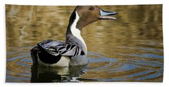 Talking Pintail Beach Towel