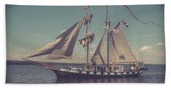 Tall Ship - 4 Beach Towel