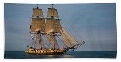 Tall Ship U.s. Brig Niagara Beach Sheet