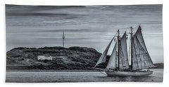 Tall Ships 2009 Beach Sheet by Ken Morris