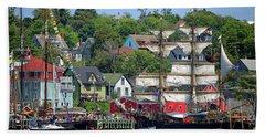 Tall Ships 2017 Lunenburg,  Nova Scotia Beach Towel