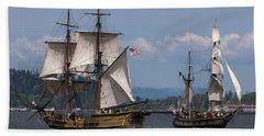 Tall Ships Square Off Beach Sheet