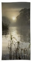 Tamar River Winter  Sunrise, Uk Beach Towel