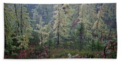 Tamaracks And Heather Beach Towel