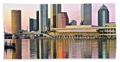 Tampa In Vivid Color Beach Sheet