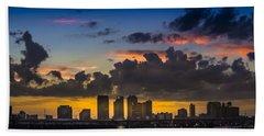 Tampa Sunset Beach Towel