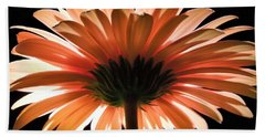 Tangerine Gerber Daisy Beach Towel