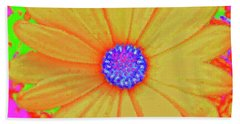 Tangerine Sunshine Beach Sheet by Ann Johndro-Collins
