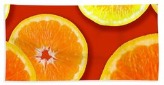 Tangerine Tango Beach Towel by Tara Hutton