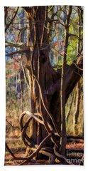 Tangled Vines On Tree Beach Towel