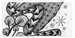 Tangled Serpent Beach Towel by Jan Steinle