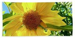 Tangled Sunflower Beach Towel
