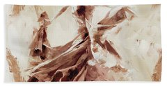 Beach Towel featuring the painting Tango Dance 9910j by Gull G