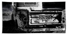 Taos Dodge B-w Beach Towel