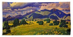 Taos Fields Of Yellow Beach Towel