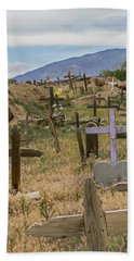 Taos Pueblo Cemetery Beach Towel