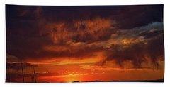 Taos Virga Sunset Beach Towel by Jason Coward