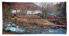 Beach Towel featuring the photograph Tapoco Lodge by Debra and Dave Vanderlaan