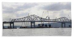 Tappan Zee Bridge From Tarrytown Beach Towel