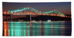 Beach Towel featuring the photograph Tappan Zee Refelctions by James Kirkikis