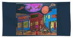 Beach Towel featuring the drawing Garbell's Lunch And Confectionery by Jonathon Hansen