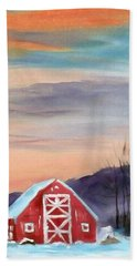 Target Range Barn Beach Towel by Larry Hamilton