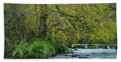 Tarr Steps Clapper Bridge Beach Towel