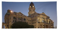 Tarrant County Courthouse Rebirth Beach Towel