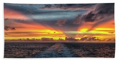 Tasman Sea Sunset Beach Towel