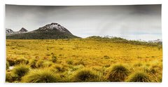 Tasmania Mountains Of The East-west Great Divide  Beach Towel