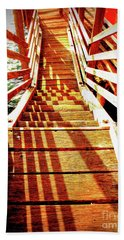 Tathra Wharf Stairs Beach Towel by Lexa Harpell
