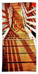 Tathra Wharf Stairs Beach Sheet by Lexa Harpell
