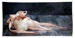 Tattered Ballerina Slippers Beach Towel
