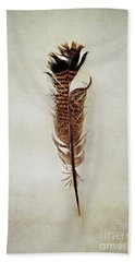 Tattered Turkey Feather Beach Towel