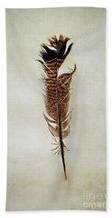 Tattered Turkey Feather Beach Sheet