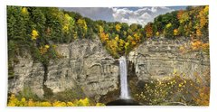 Taughannock Falls Autumn Beach Towel
