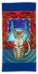 Taurus Cat Zodiac Beach Towel