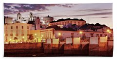 Beach Towel featuring the photograph Tavira At Dusk - Portugal by Barry O Carroll