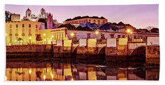 Beach Towel featuring the photograph Tavira Reflections - Portugal by Barry O Carroll