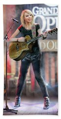 Taylor At The Opry Beach Sheet by Don Olea