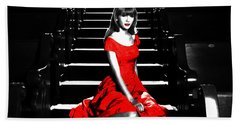 Taylor Swift 8c Beach Towel by Brian Reaves